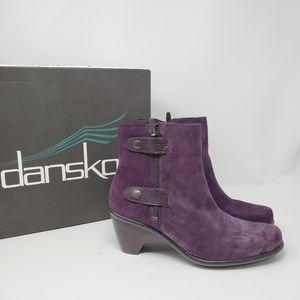 Brand new $165 Dansko bootie plum purple Rayne sty